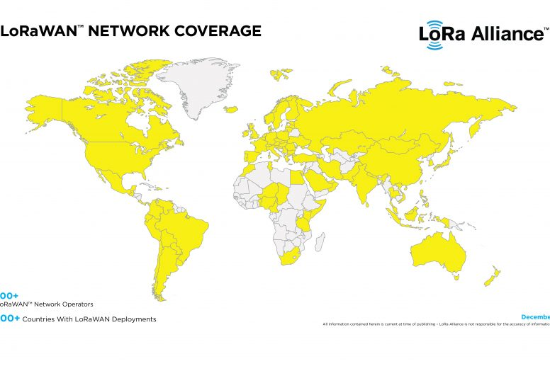 LoRa network coverage Dec 2018